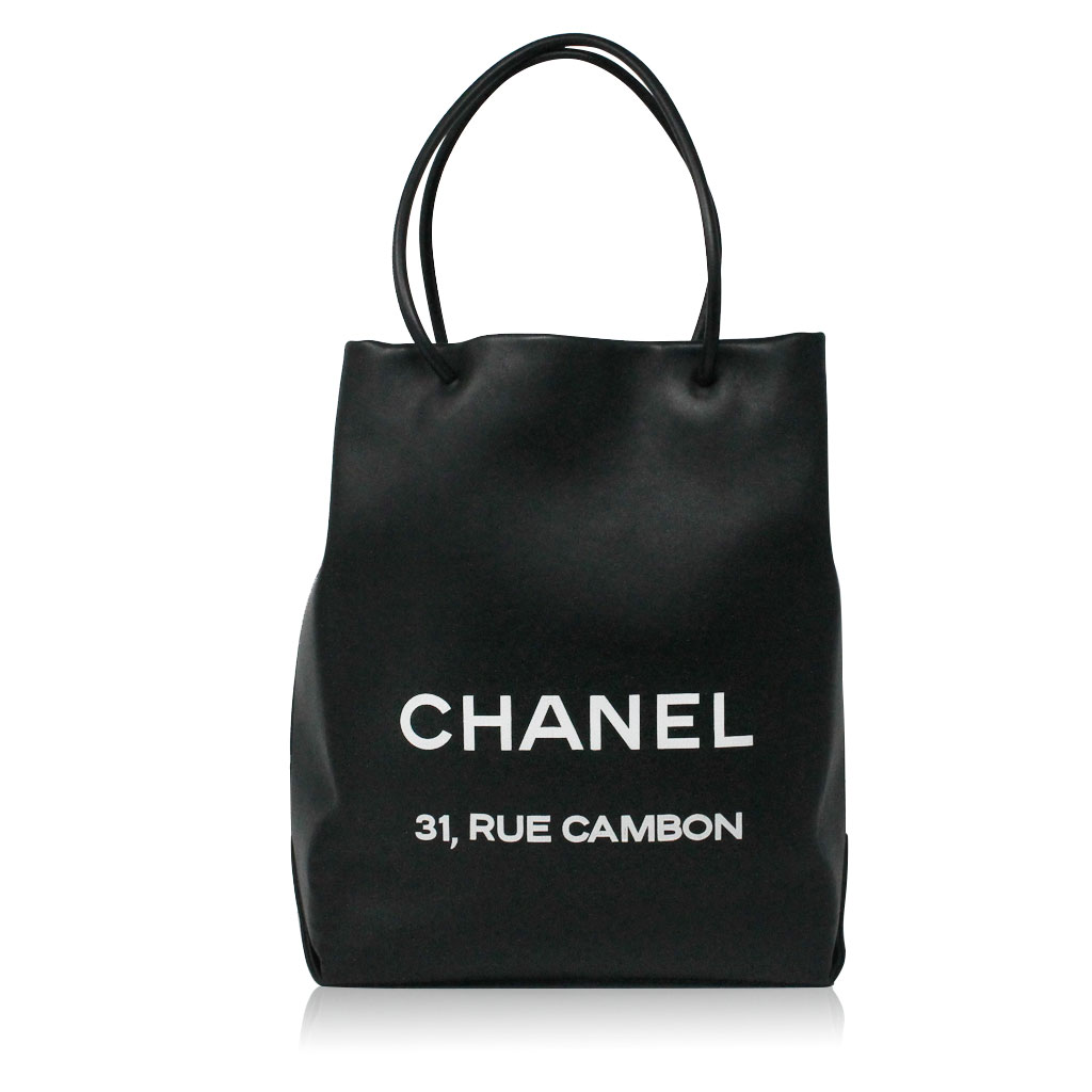 Chanel Petit 31 Rue Cambon Black Leather Runway Tote in Box No. 12 a0b829959df47