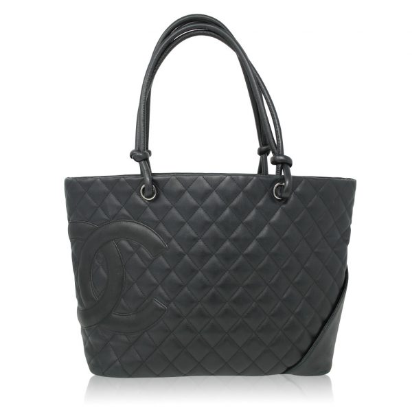Chanel Cambon Line Large Calf Shoulder Tote Bag