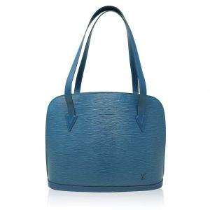 Louis Vuitton Blue Lussac Epi Leather Shoulder Bag