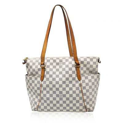 Louis Vuitton Totally GM Damier Azur Handbag Purse in Dust Bag