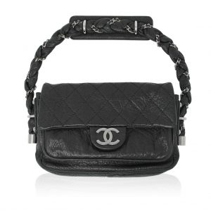 chanel distressed leather flap bag