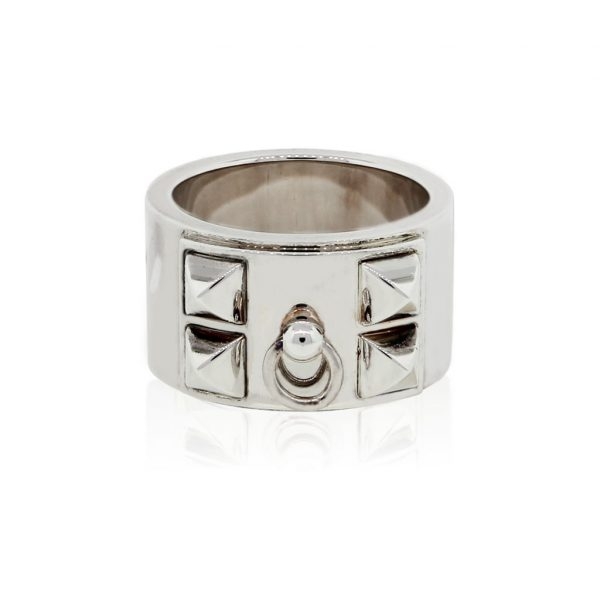 Hermes sterling silver ring size 54