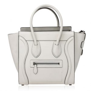 Celine Cream Micro Luggage Tote