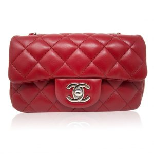 Chanel Red Quilted Mini Flap Bag