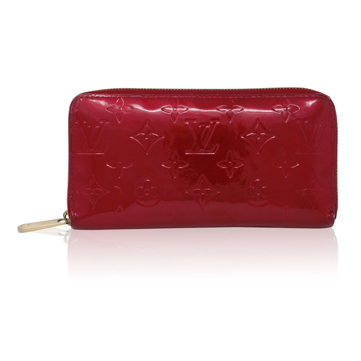 5181b1ae4de2 Louis Vuitton Zippy Wallet Red Vernis Leather in Box