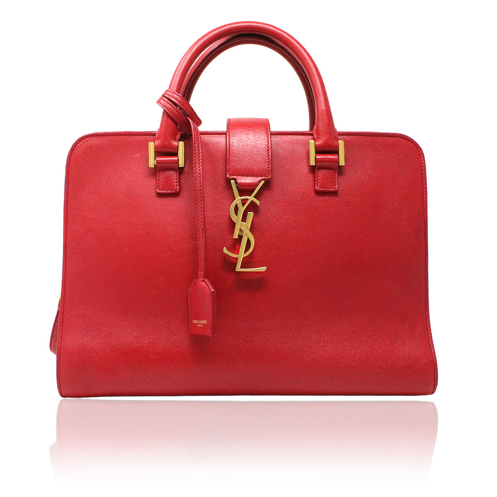Ysl Yves Saint Laurent Red Leather Gold Hardware Crossbody