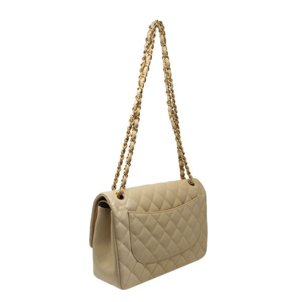 Chanel quilted lambskin beige