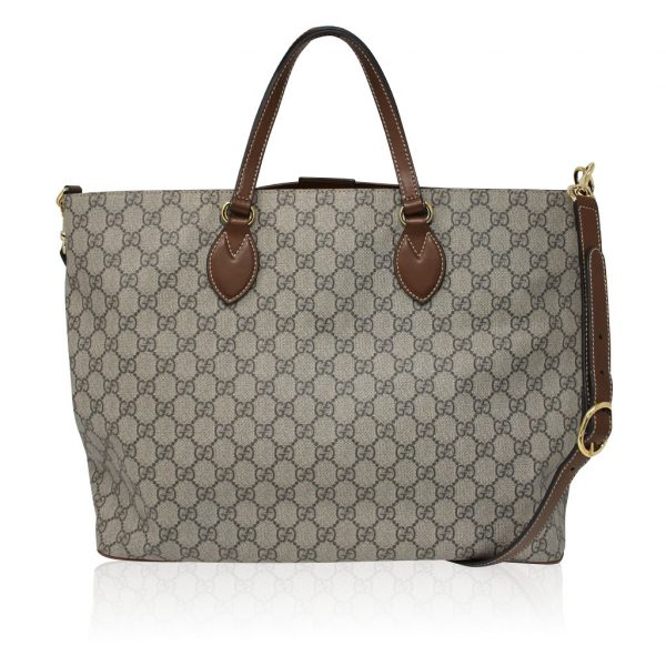 Gucci Supreme Coated Canvas Tote Handbag
