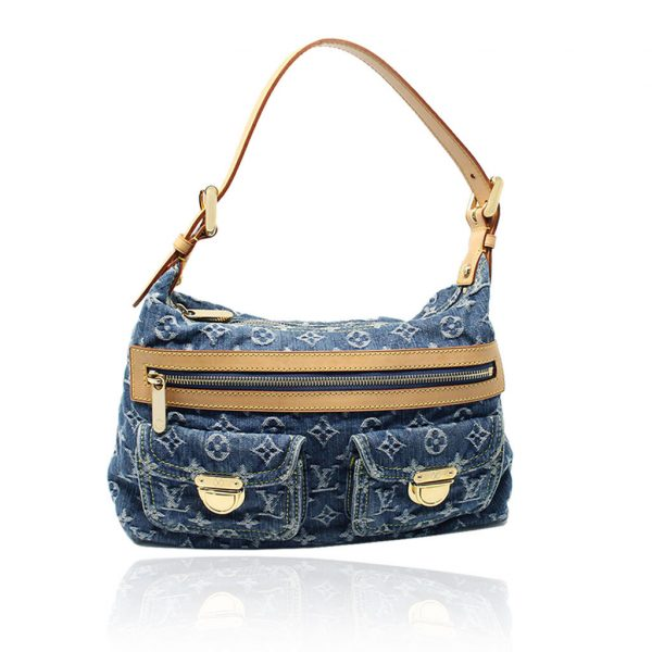 Louis Vuitton Denim Baggy PM Shoulder Bag with receipt
