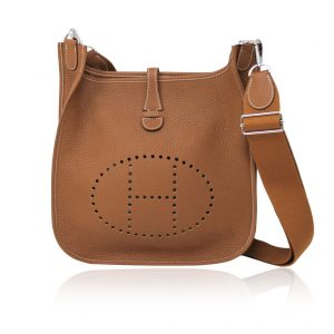 Hermes Evelyne III 29 Taurillon Clemence Gold Cross body bag