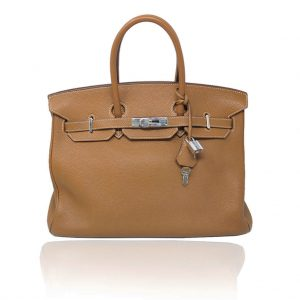 Authentic Hermes Birkin 35 Gold TOGO