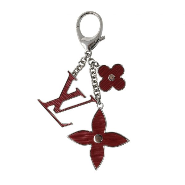 louis vuitton fleur d'epi fuschia key chain