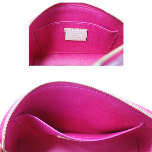 authentic louis vuitton pink and red makeup case
