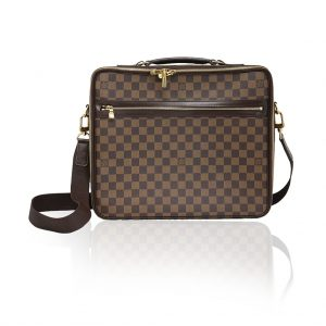 louis vuitton damier ebene sasana briefcase laptop case