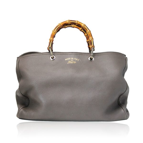 Gucci Pebbled Leather Large Brown Handbag And Shoulder Bag