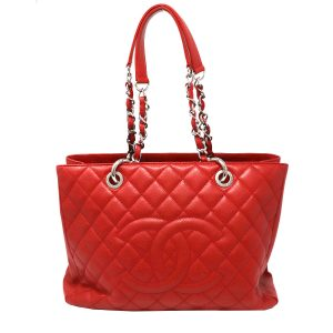 Chanel Grand Shopper Tote GST Red Caviar Leather Shoulder Bag no. 15
