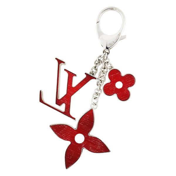 Louis Vuitton Red Epi Flower Leather Key Chain