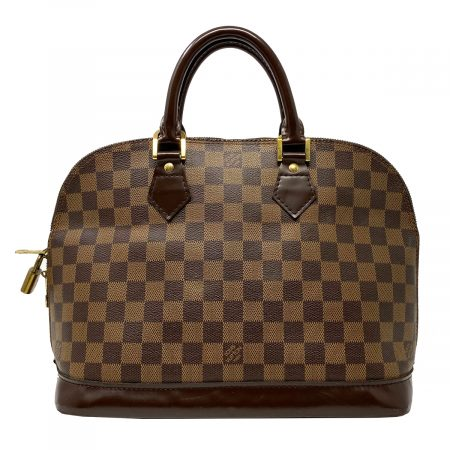 Louis Vuitton Alma Pm Damier Ebene Leather Canvas Handbag