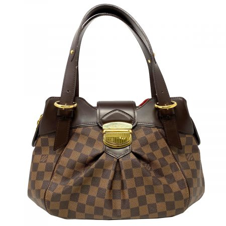 Louis Vuitton Sistina MM Damier Ebene Canvas Shoulder Bag