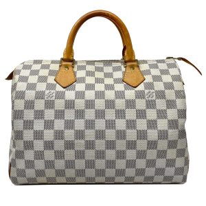 Louis Vuitton Speedy 30 Damier Azur Canvas Handbag