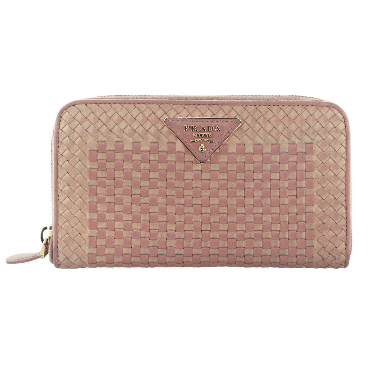 63f636ce531178 ... best authentic prada pink weave saffiano leather large zip continental  wallet lim. e dadae a20a8