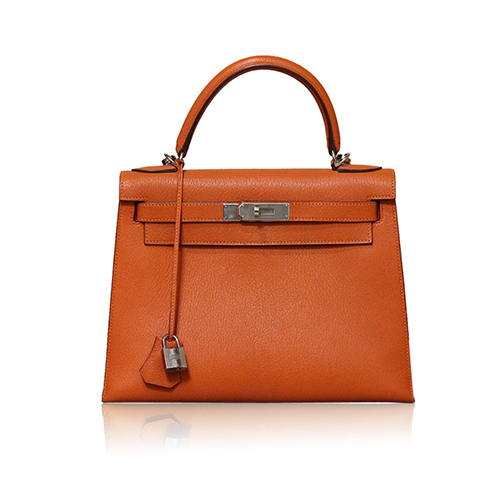 Hermes Kelly 28cm Sellier Epsom Orange