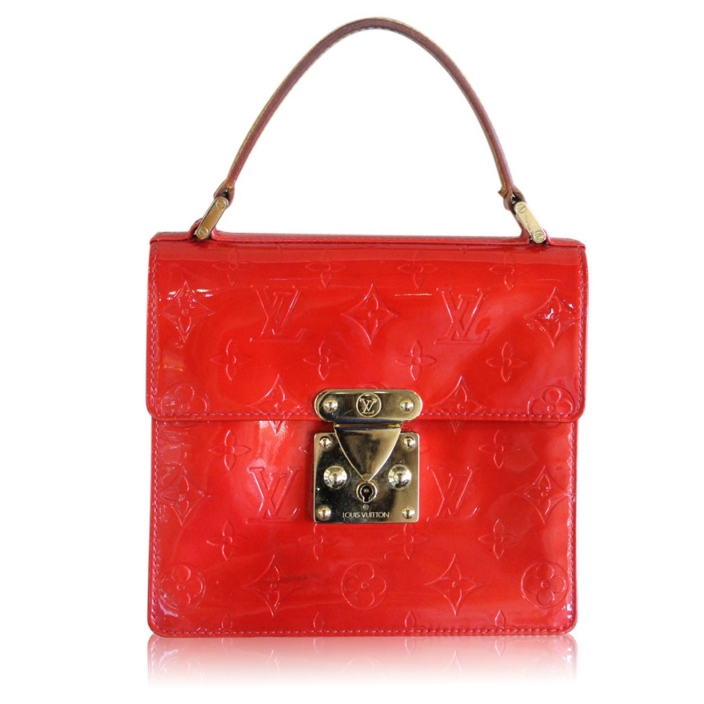 Louis Vuitton Red Vernis Spring Street Handbag