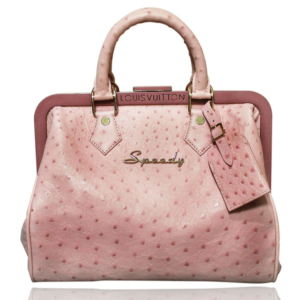 Louis Vuitton Pink Ostrich Speedy