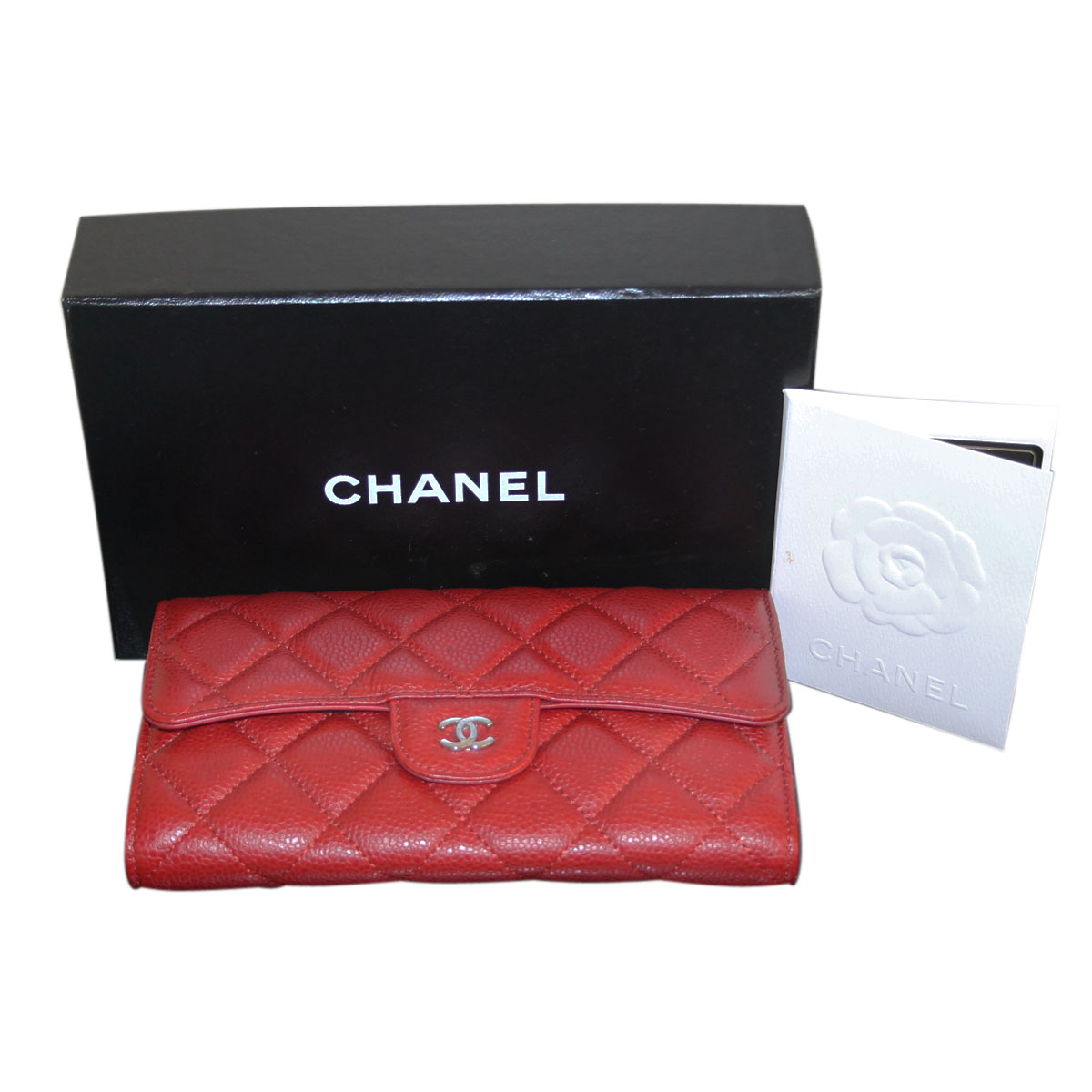 Chanel Red Caviar Box and Papers
