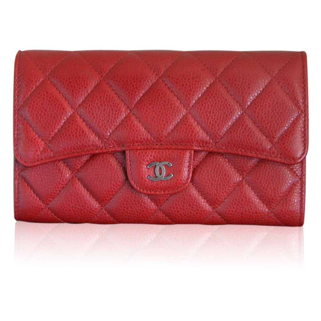 Chanel Red Caviar Wallet