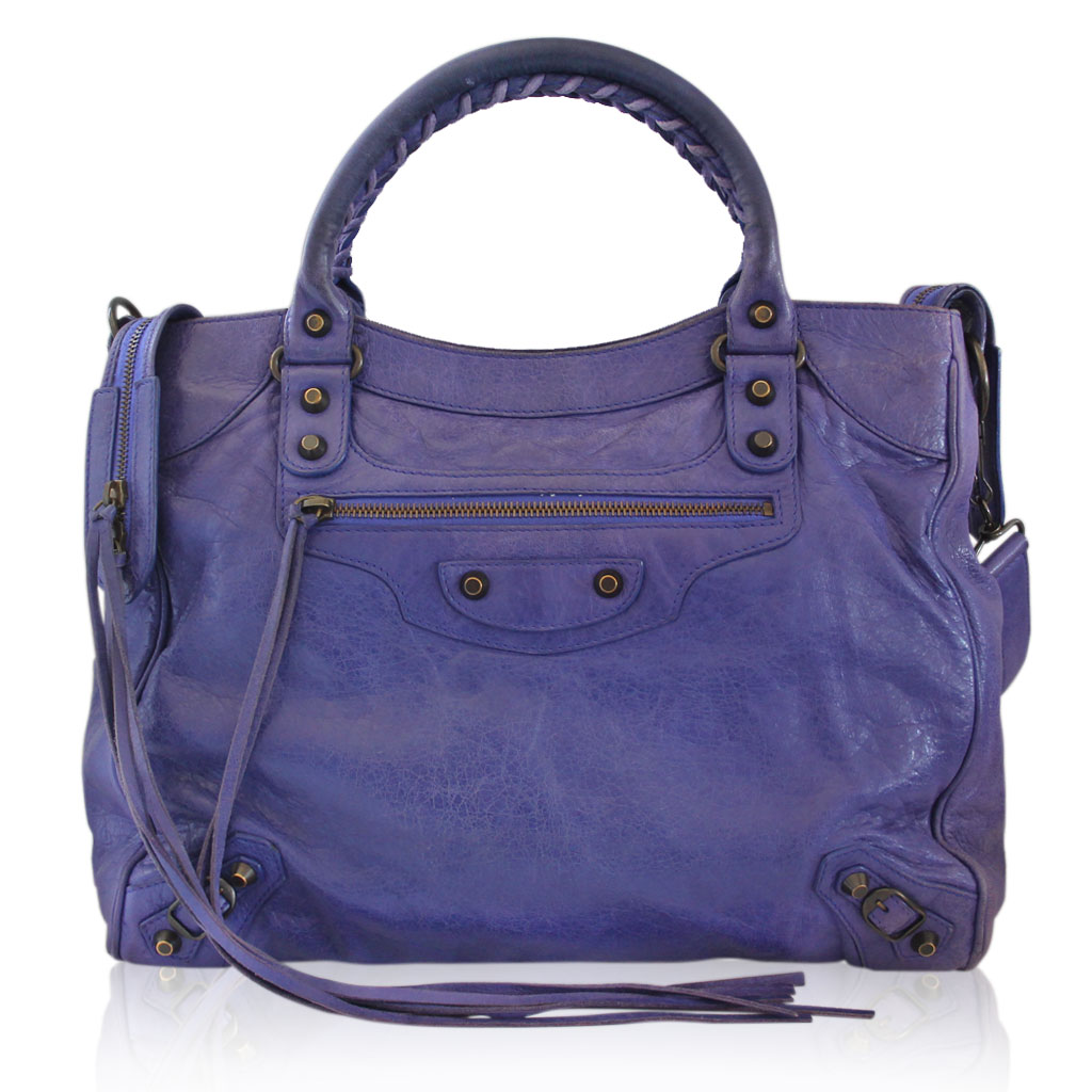 Balenciaga Arena Giant Purple Handbags
