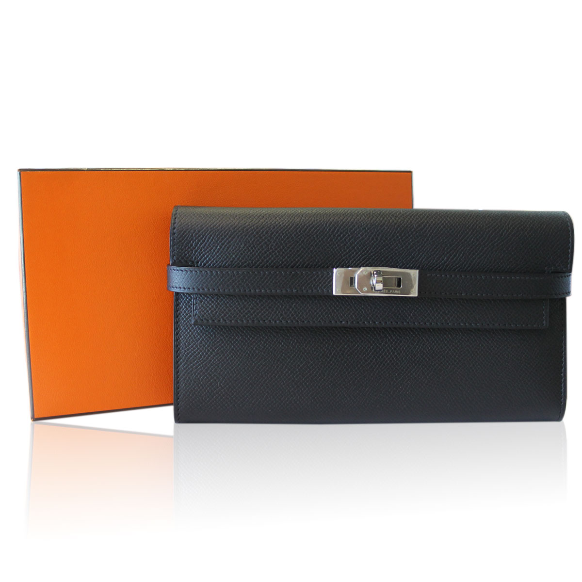 Hermes Epsom Kelly Wallet with Box