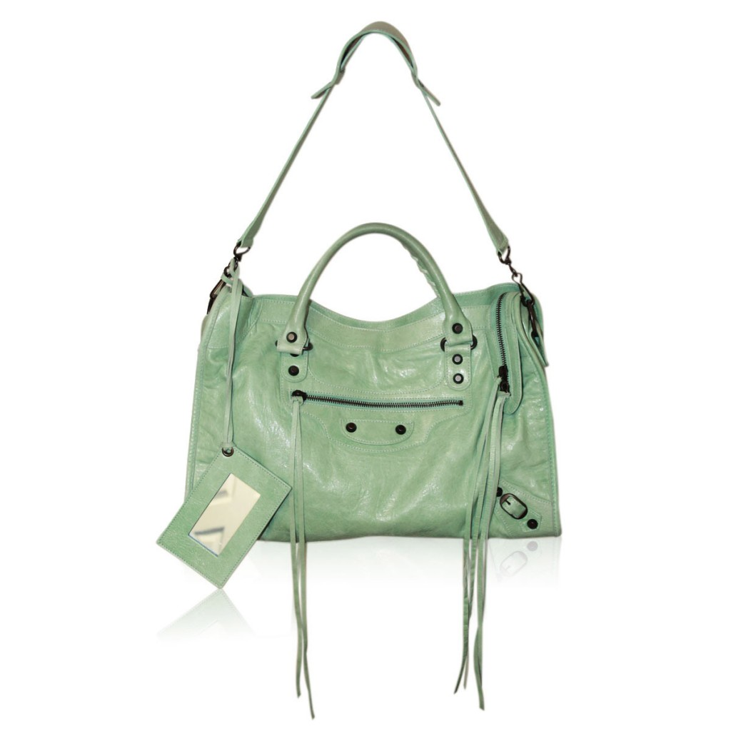 Balenciaga Mint Green Classic City Handbag
