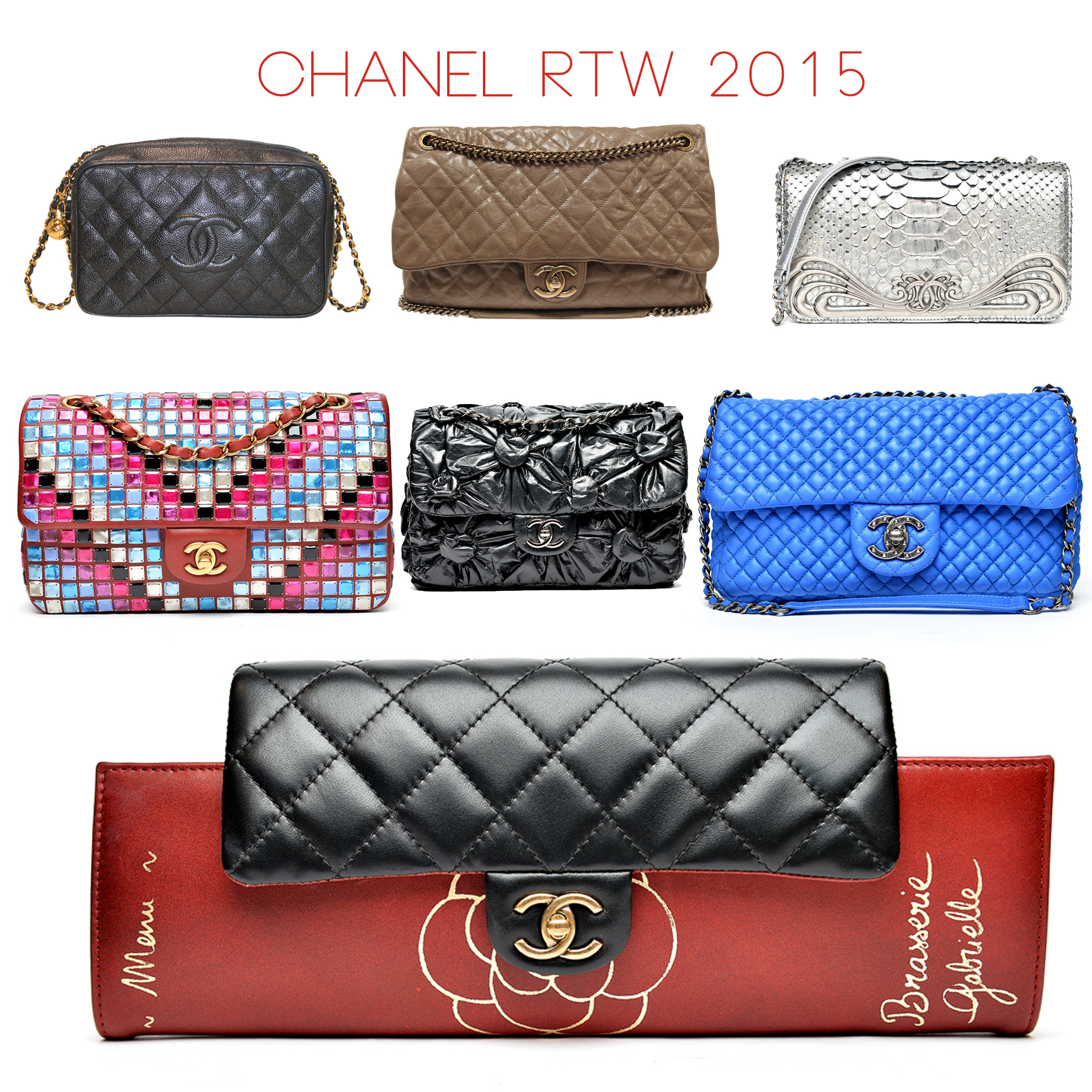 Sky Blue Color Of The Season In Additional Chanel Incorporated Blocking Tiles Vinyl Floweretallic Silver Python On Their Flap Bags