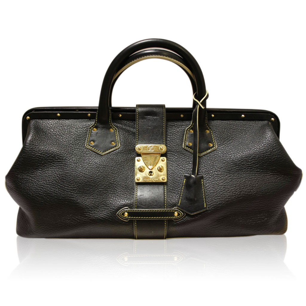 Louis Vuitton Suhali L'Ingenieux Black Leather Shoulder Bag