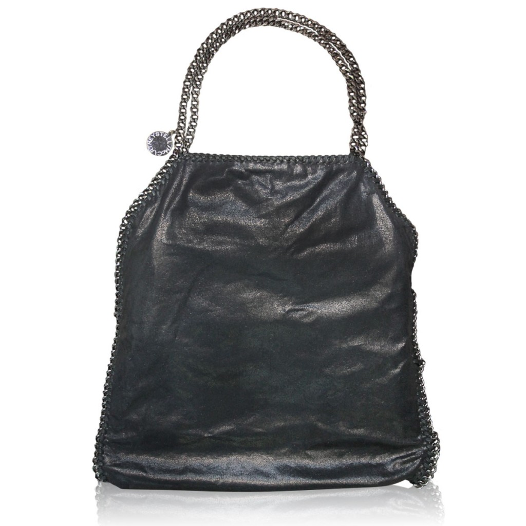 Stella McCartney Black Falabella Shaggy Deer Tote