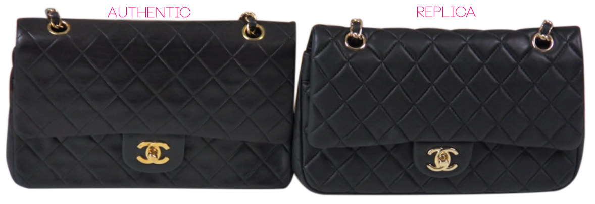 980450a8d329 Authentic vs Replica Chanel Flap Bag