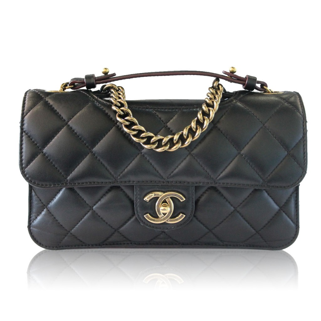 Chanel Cutout Lambskin Flap Bag Boca Raton