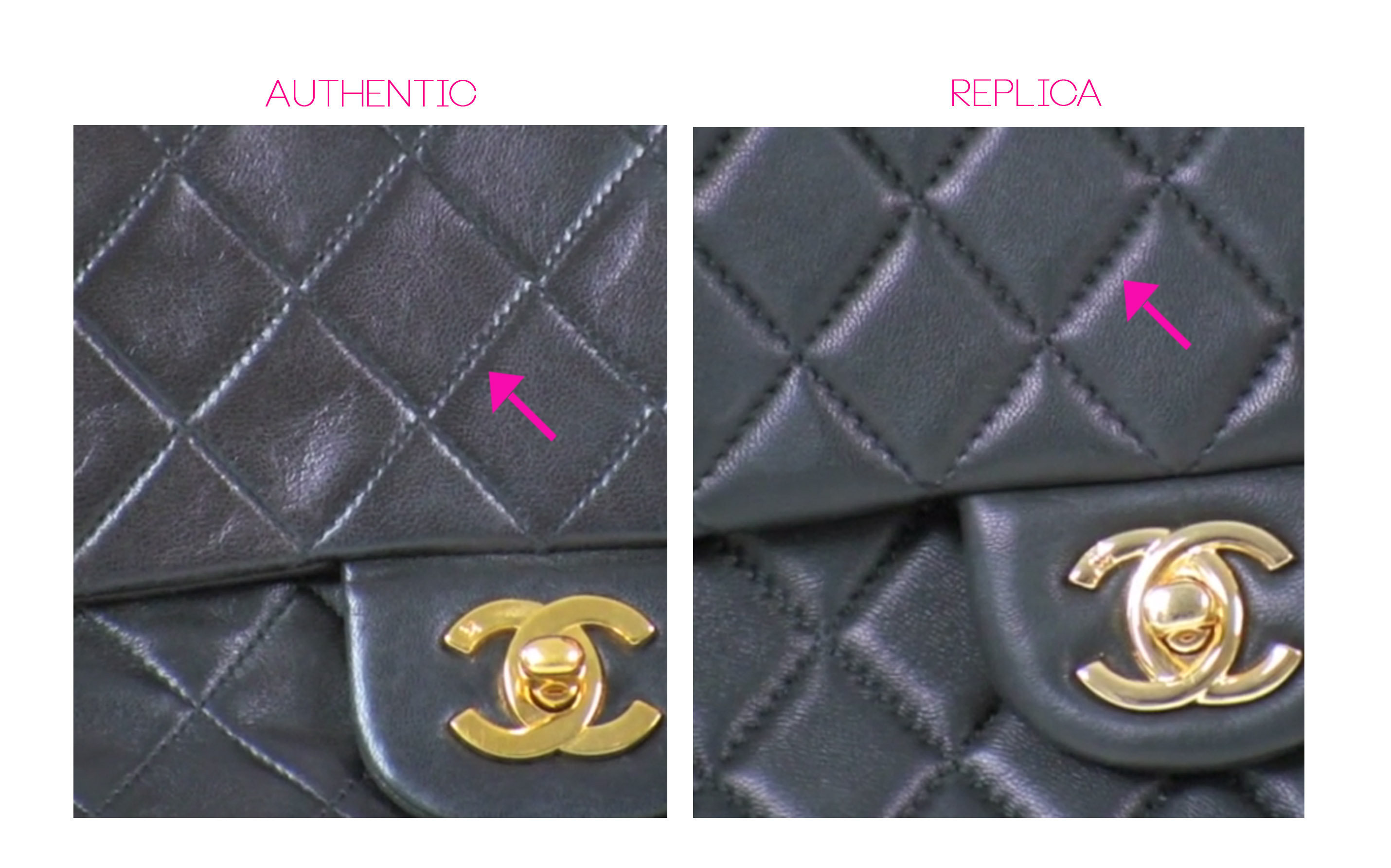 Stitch Count on Chanel Classic Flap Bag e592840909a50