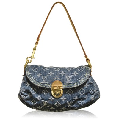 Louis Vuitton Denim Pleaty Pochette