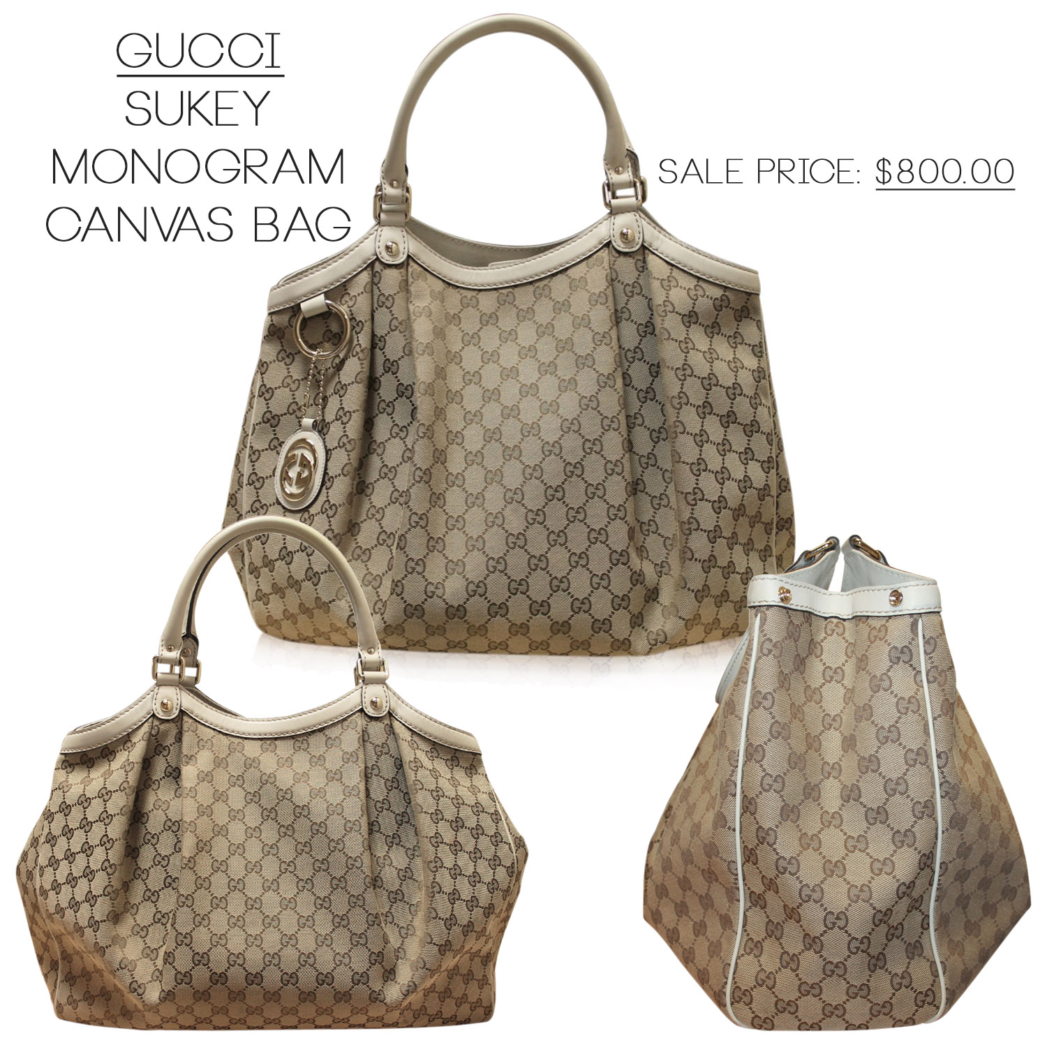 Gucci Sukey Shoulder Bag Canvas