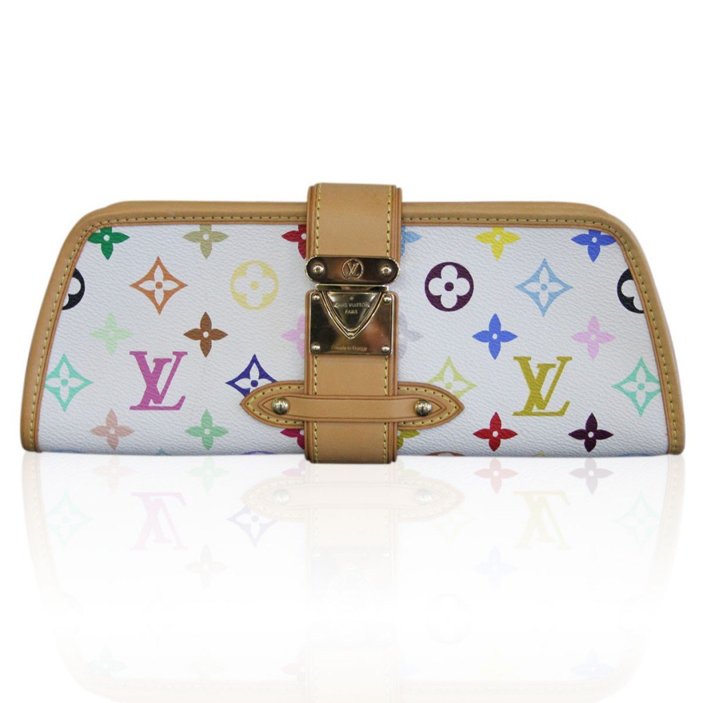 Louis Vuitton Shirley White Multi-color Clutch
