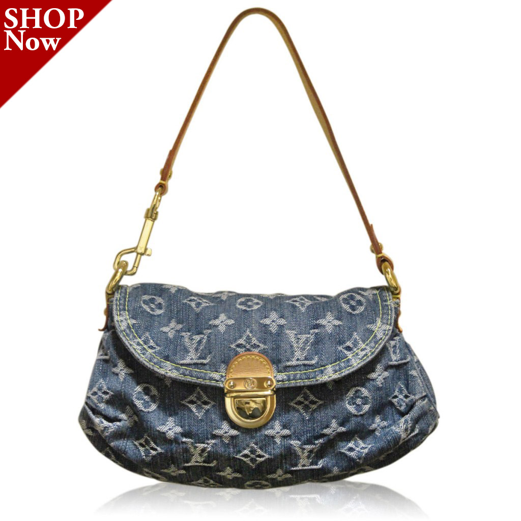 Louis Vuitton Denim Pleaty Pochette Purse Boca Raton