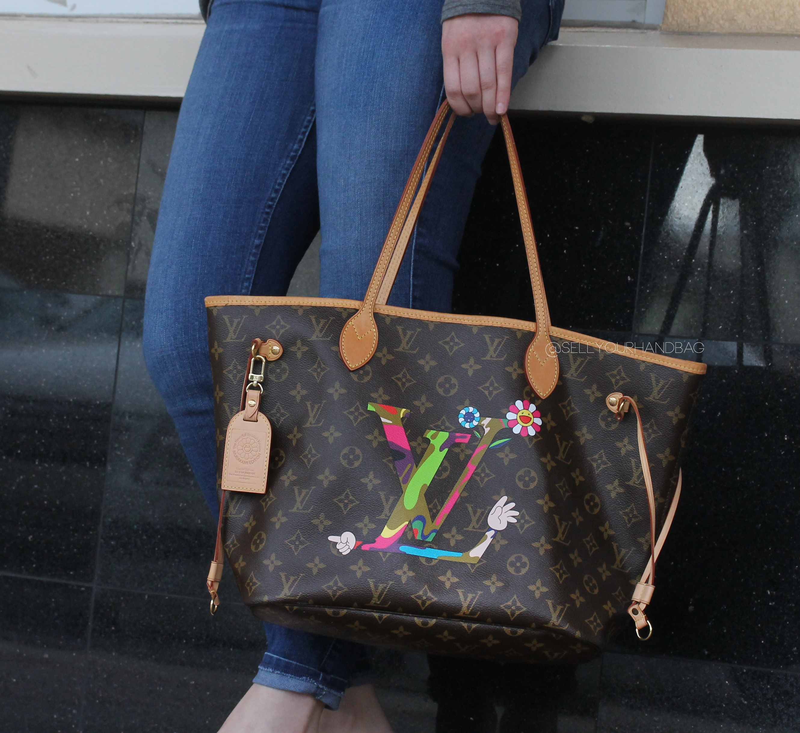 LOUIS VUITTON MURAKAMI NEVERFULL TOTE BAG BOCA RATON
