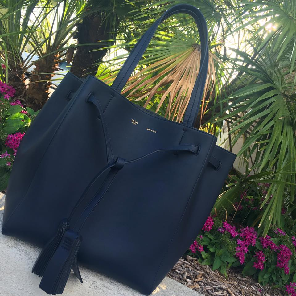 Celine Small Cabas Phantom Tote with Tassel