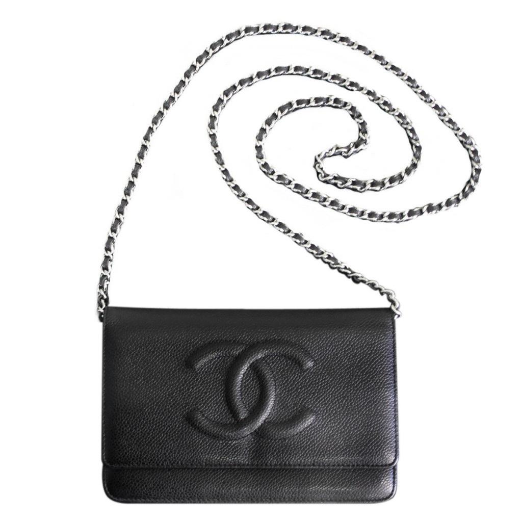 Chanel Wallet on Chain Black Caviar Shoulder Bag WOC