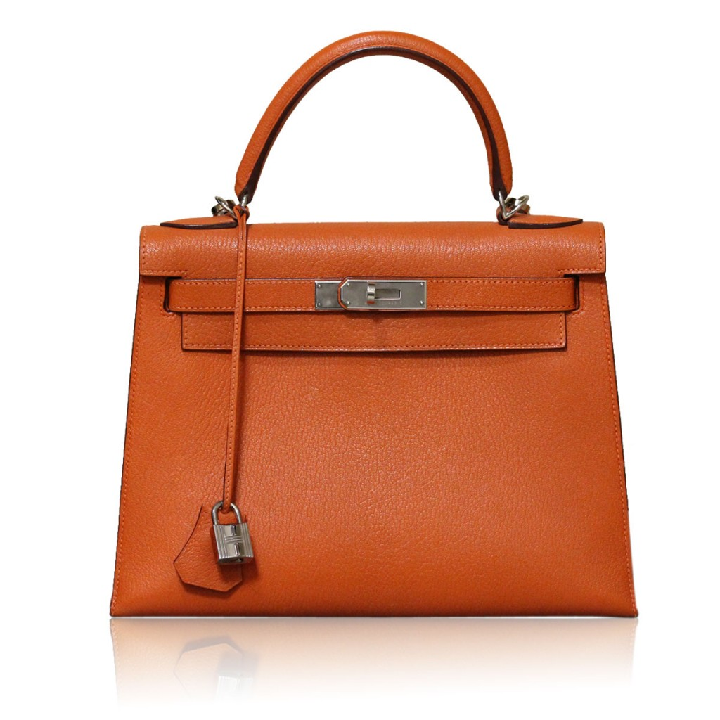 Hermes Kelly 28cm Orange Boca Raton