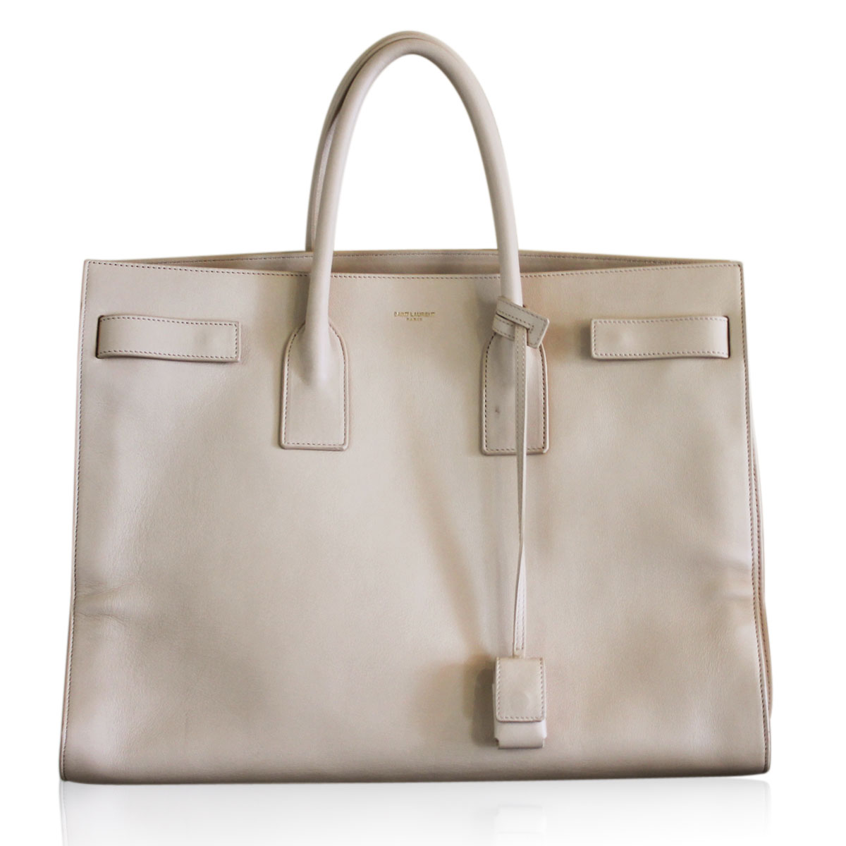 Saint Laurent Large Sac De Jour Bag In Powder Leather