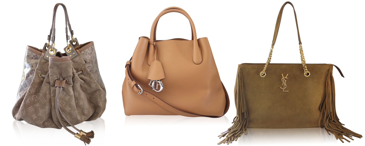 Beige and Tan Designer Handbags boca Raton